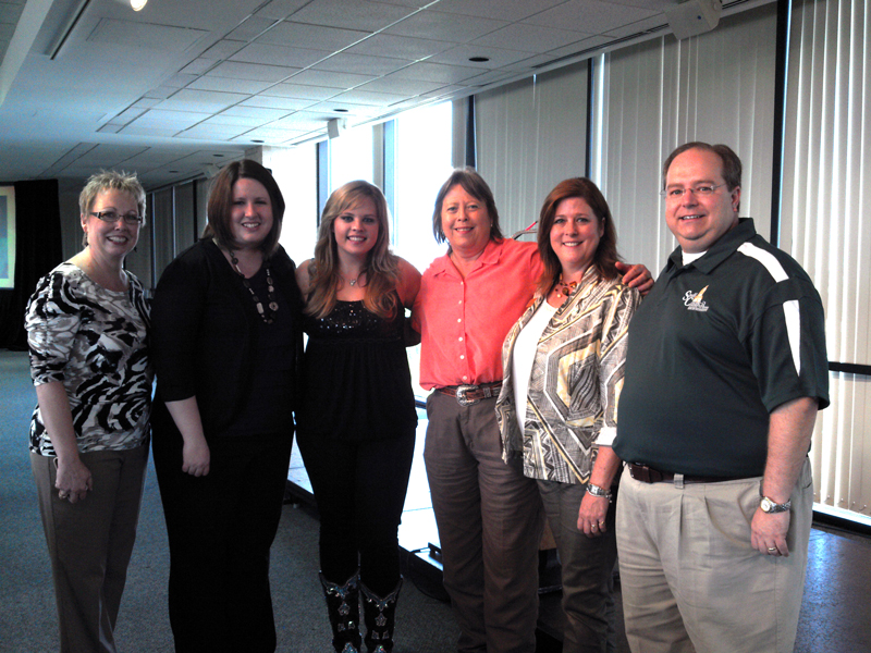 The Staff Council STEPP Luncheon Committee members with Holly Tucker.