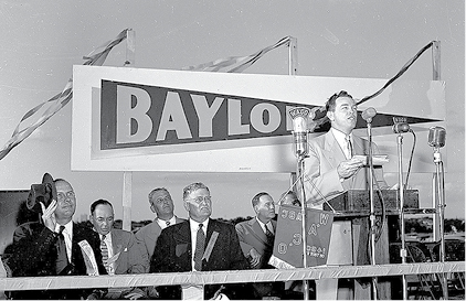 Archival photograph of Groundbreaking of Baylor Stadium