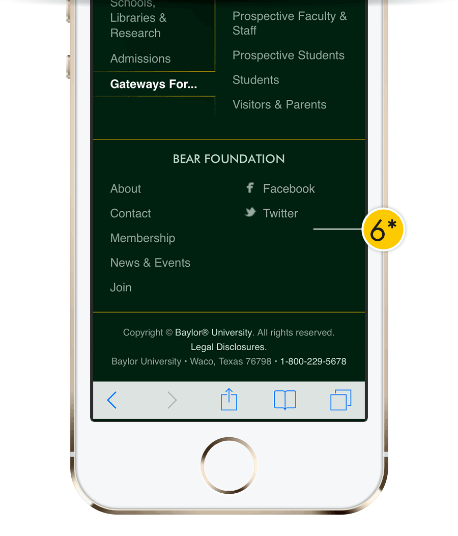 web-footer mobile with extras