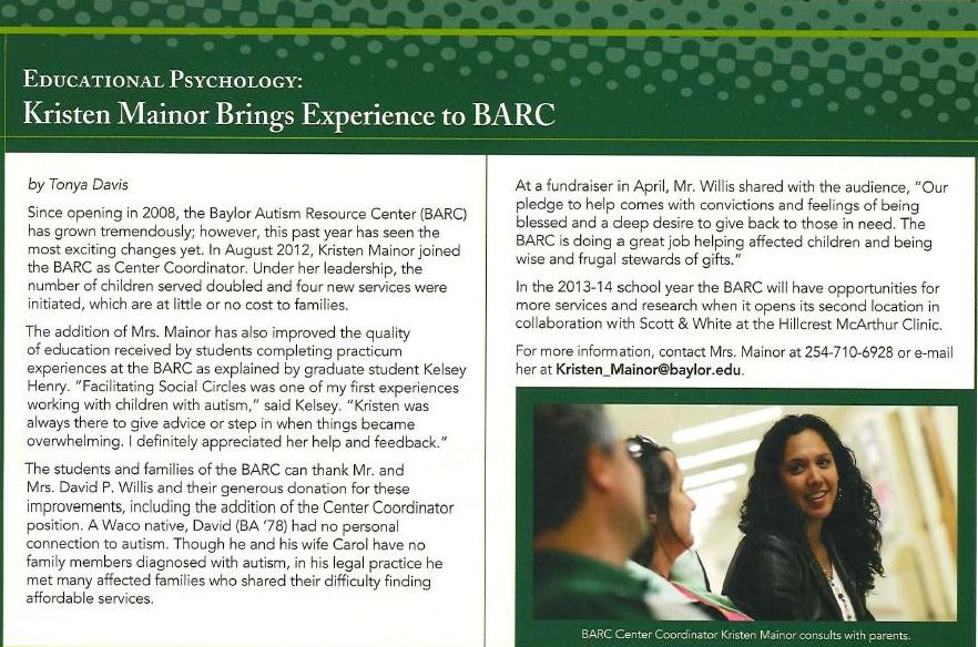 BARC-School Of Ed Newsletter