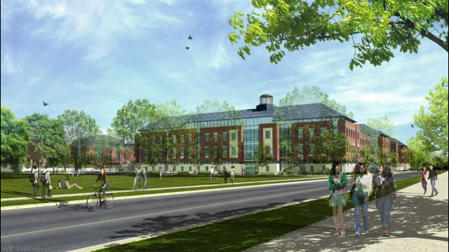 Business School Rendering - Exterior Southwest View