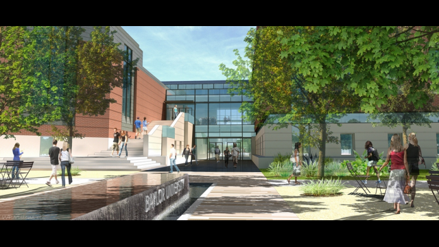 Full-Size Image: Business School Rendering - NW Mall Entry