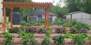 Photo of a gazebo over a garden