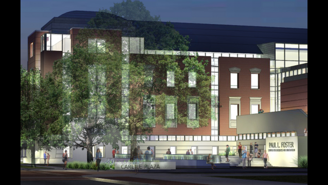 Rendering of Carlile Plaza Entry
