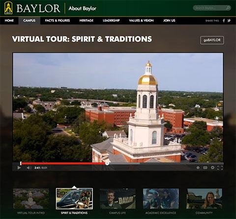 Screenshot of virtual tour site