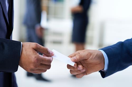 Stock photo of a handshake exchange