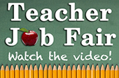 Teacher Job Fair Button