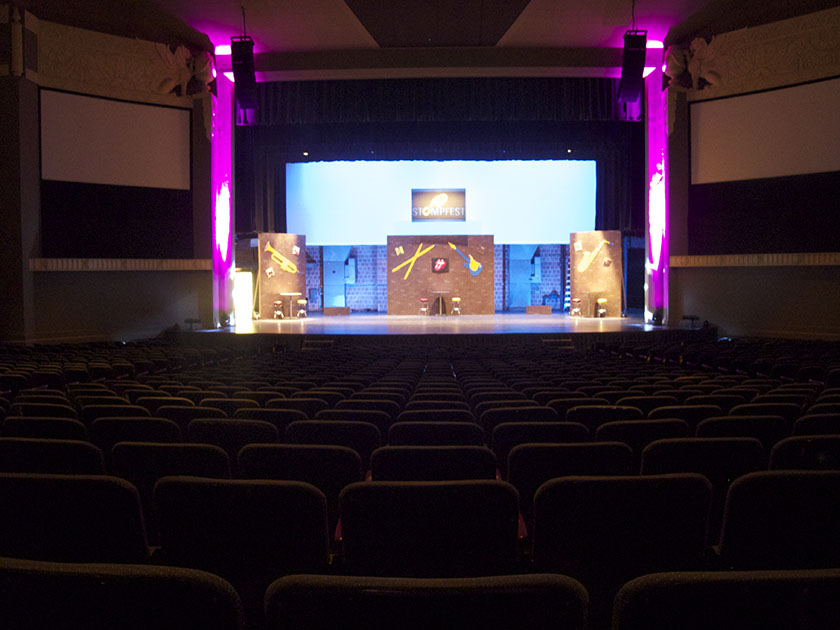 photo of the Waco Hall stage