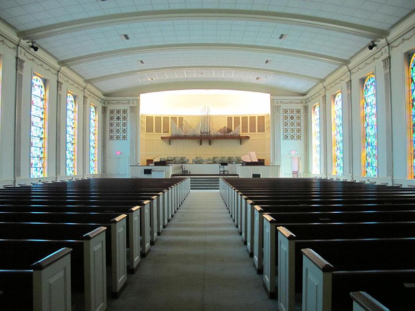 aisle photo of Miller Chapel