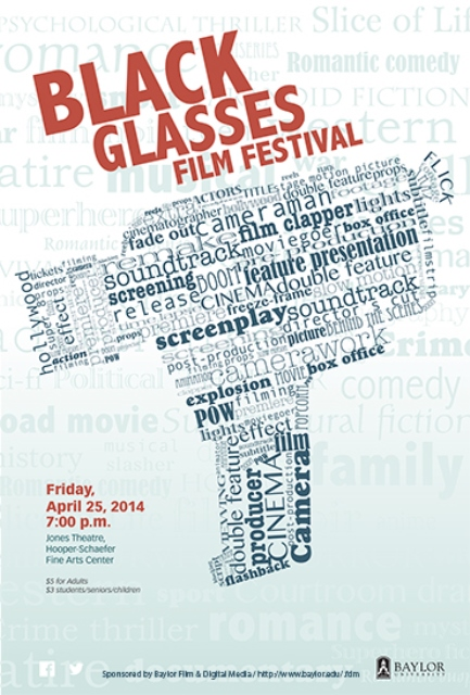Black glasses poster 2014
