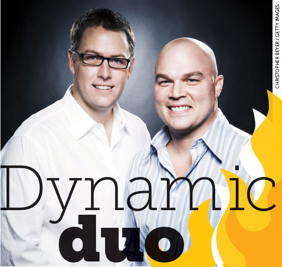 Title text treatment: Dynamic Duo, featuring Derek Haas and Michael Brandt