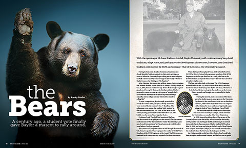 Digital graphic of magazine layout: The Bears