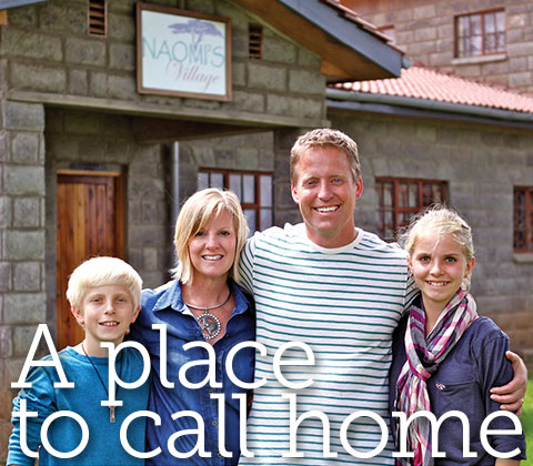 Text treatment of article title, A Place to call Home