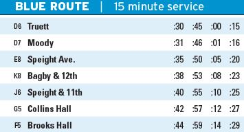 BUS 2014 Blue Route Times