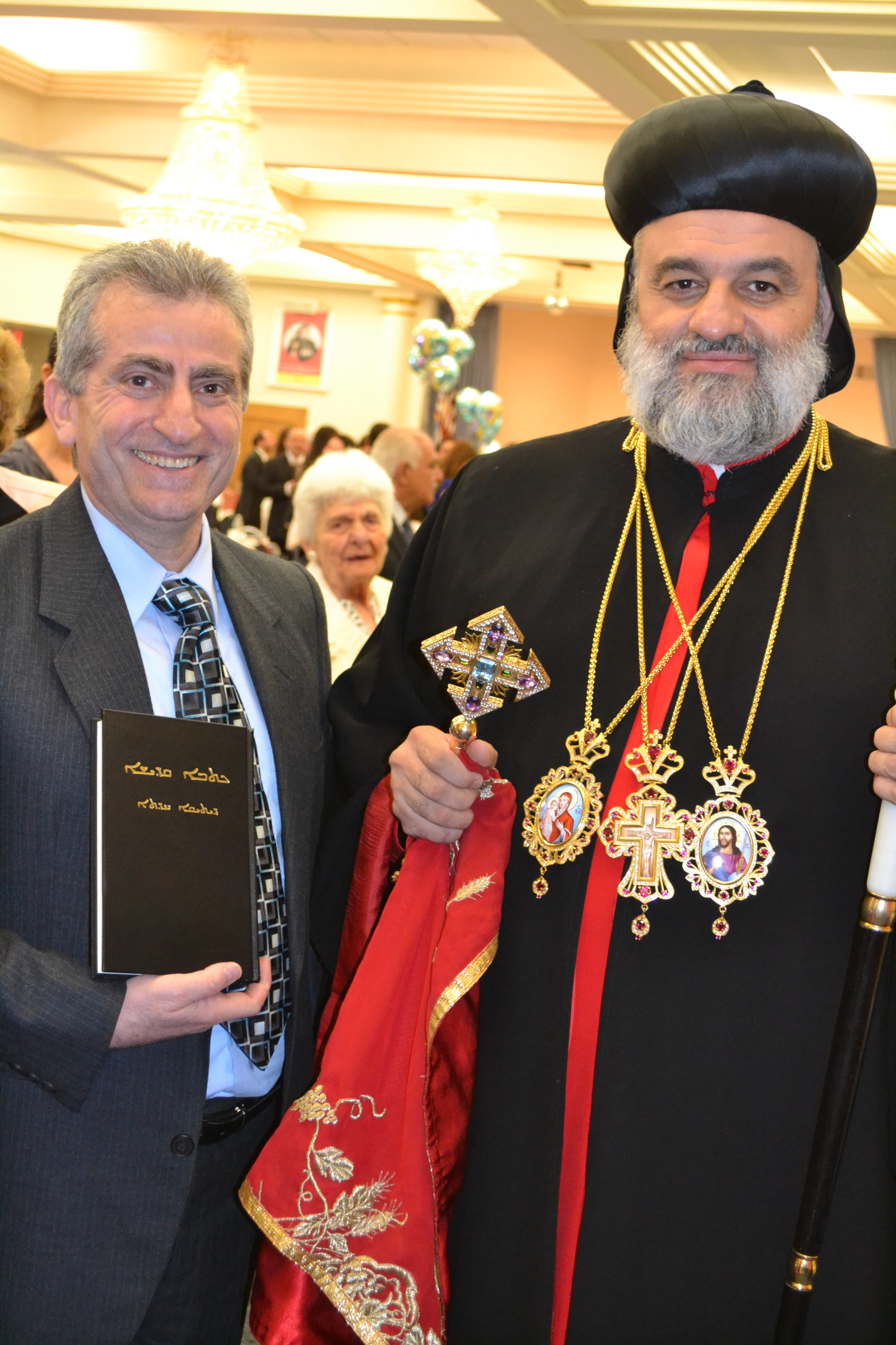 Abdul Saadi with patriarch