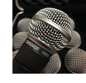 stock photo of a microphone