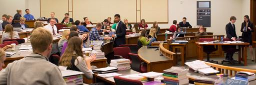 Photo of Busy Law School Classroom