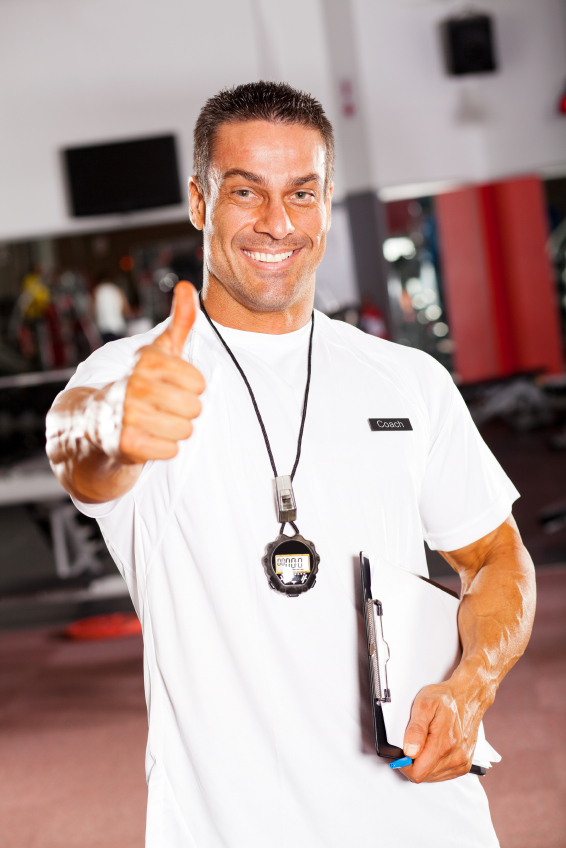 stock photo of a coach giving accolades