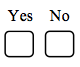 yes and no checkboxes