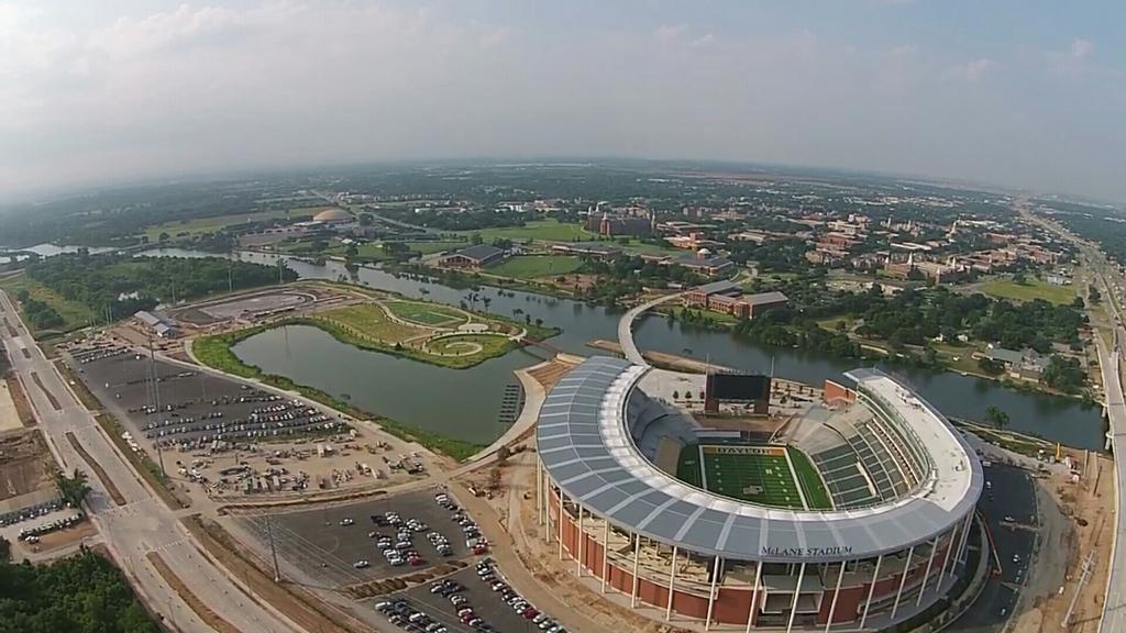 Aerial photo of Waco Riverfront and McLane Stadium