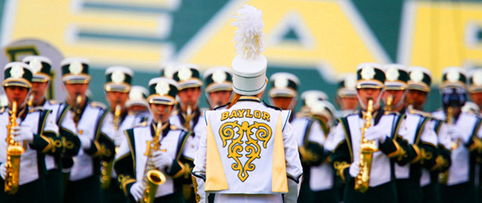 Image of the Baylor Golden Wave Marching Band