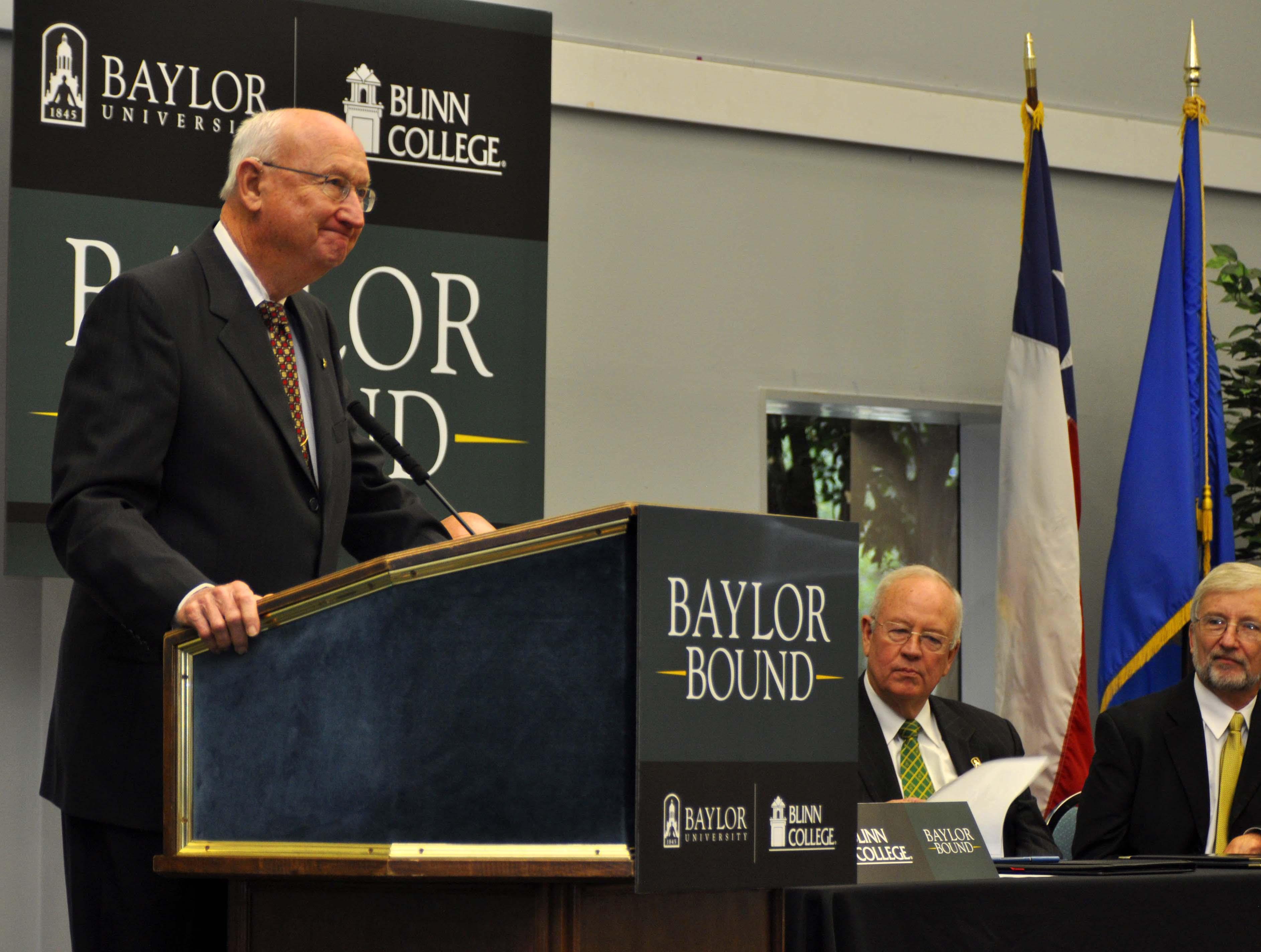 Baylor University And Blinn College Announce Partnership On New