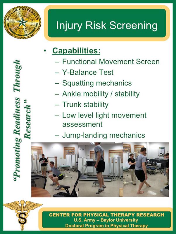 Injury risk Screening Poster