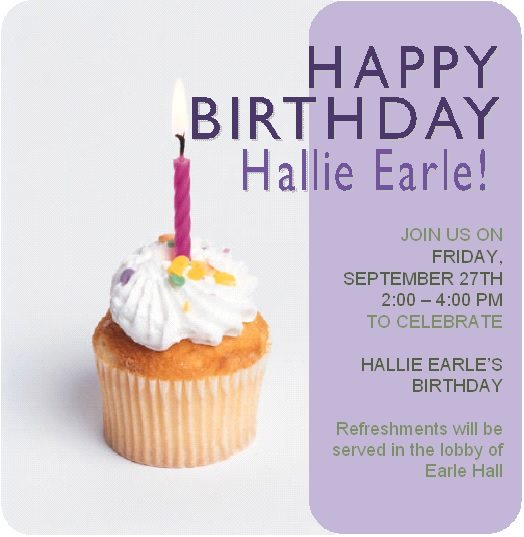 Hallie Earle B-day