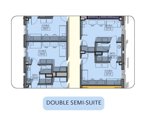 Double Suite Floorplan