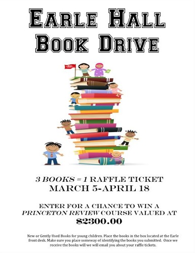 EARLE Book Drive Flyer