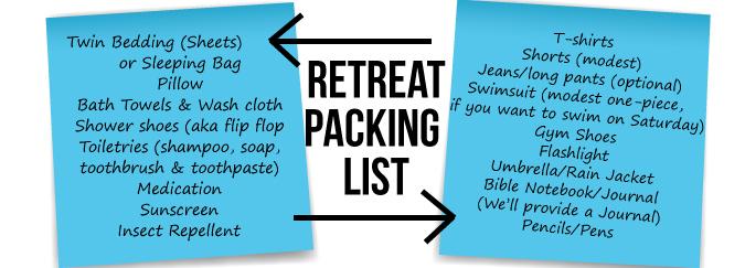 Freshmen-Retreat-Packing-List