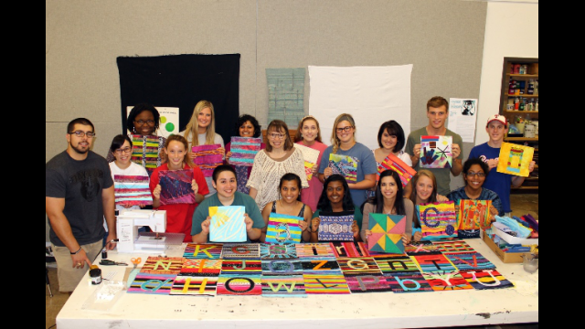 Full-Size Image: Sue Benner and the Medical Humanities class