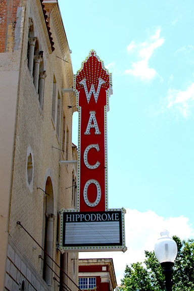 Waco Hippodrome Sign