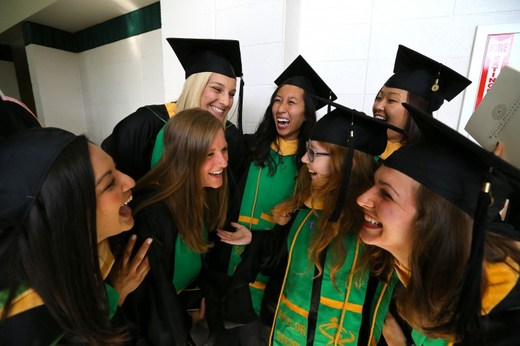 Commencement 2014 Smaller Laughing Girls
