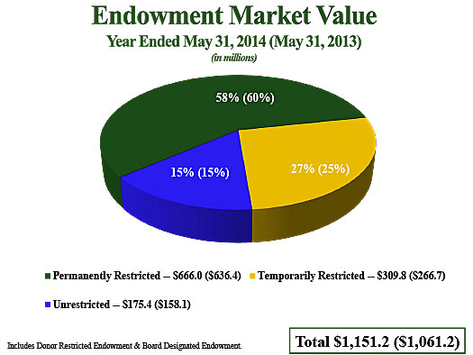 Endowment Market Value
