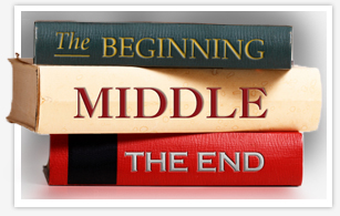 Graphic Title Treatment: Beginning, Middle, and End