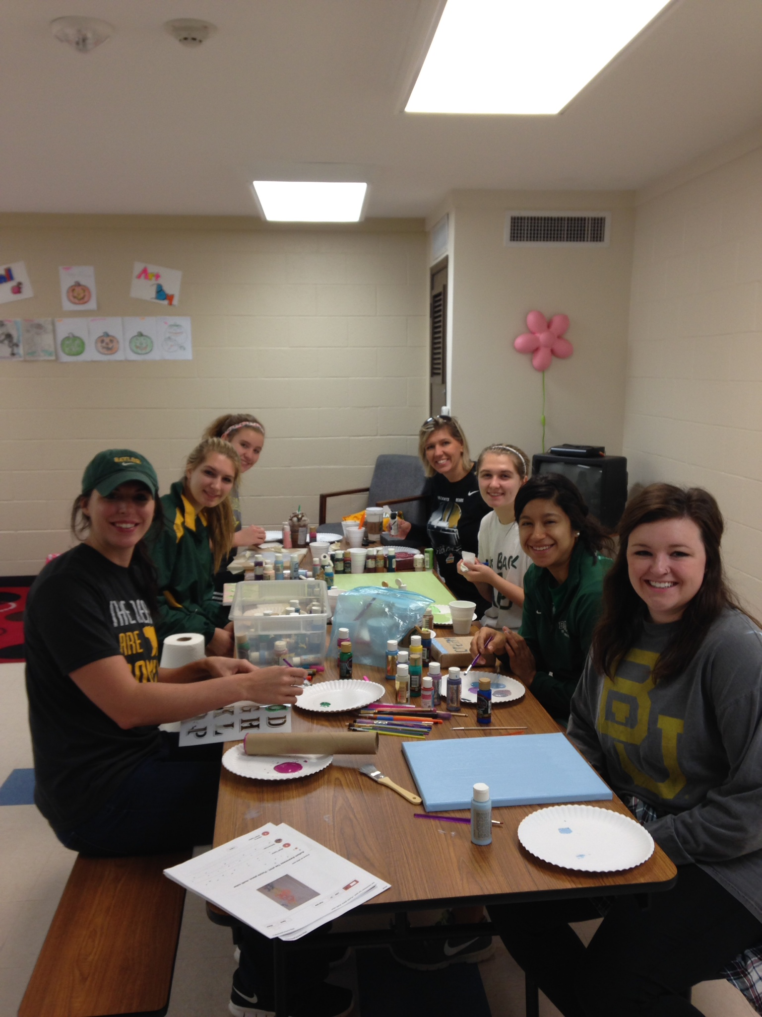Staff Council helped set up, decorate, & beautify Mosaic's new campus.
