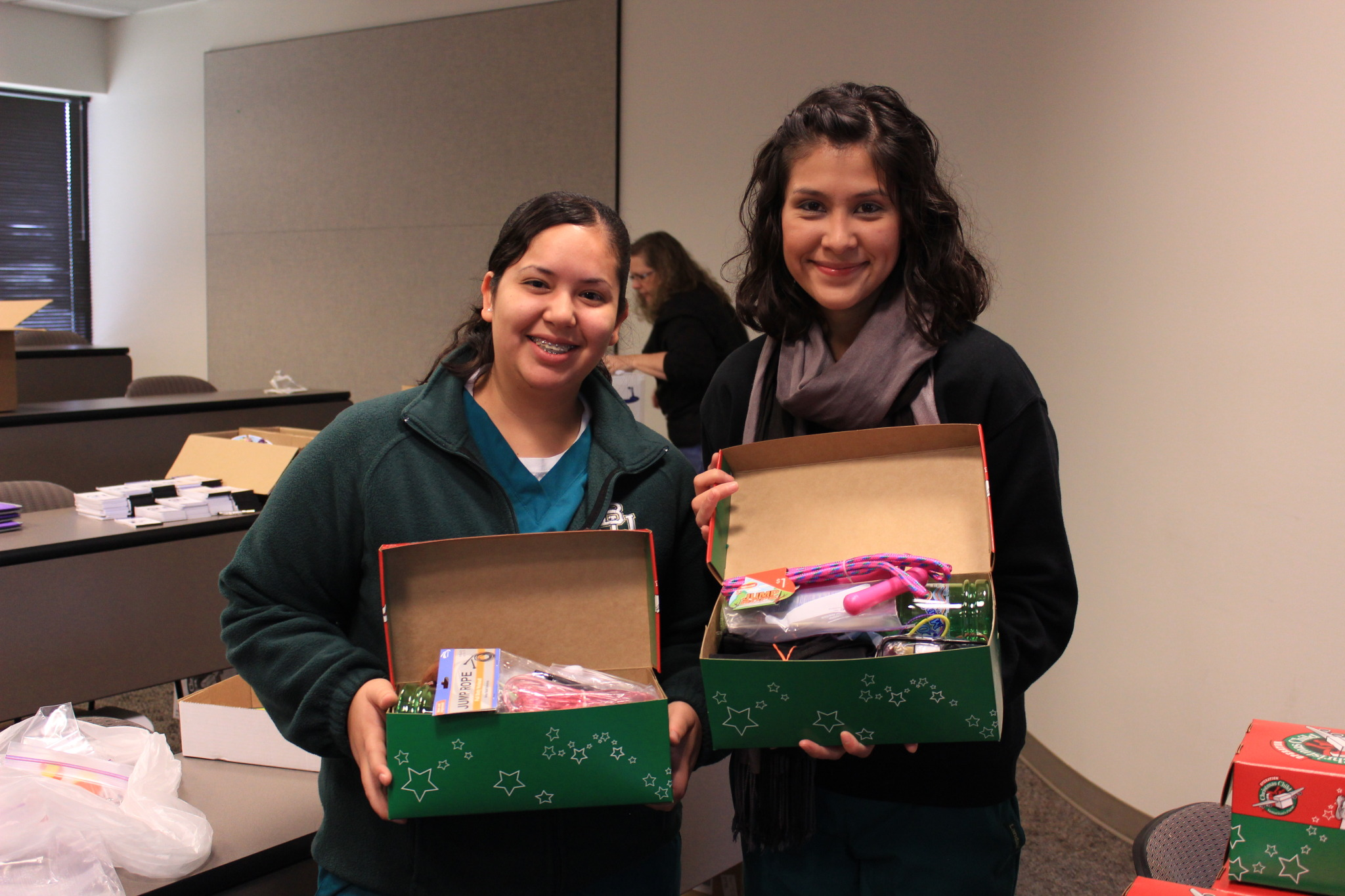 The Baylor Nursing School filled & delivered 112 boxes to Operation Christmas Child.