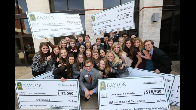 Baylor Students in Inaugural 'Philanthropy Lab' Course Present $100,000 in Grants to Local Nonprofits