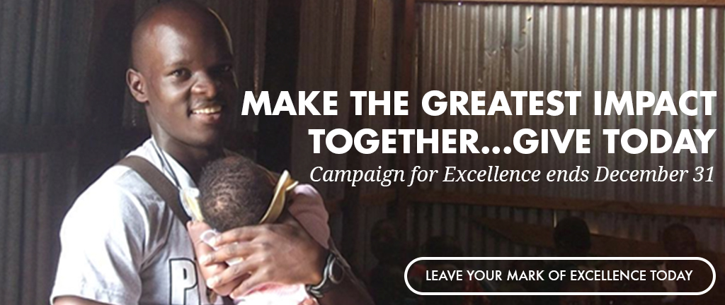 Campaign for Excellence Homepage Message