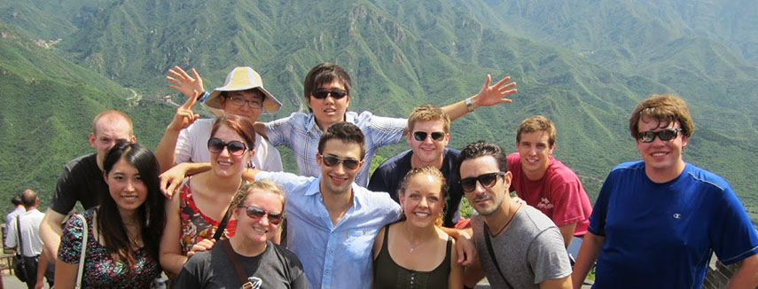 Baylor Students in Mountains