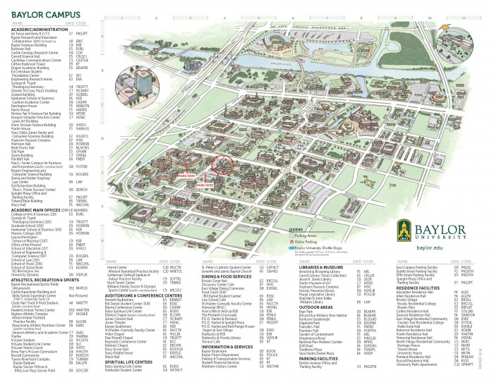 Campus Map with Circles
