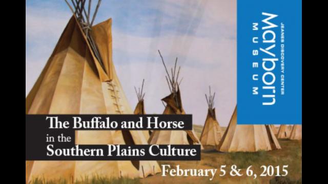 Buffalo and horse poster