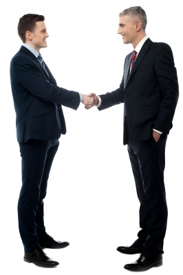 stock photo of a business handshake