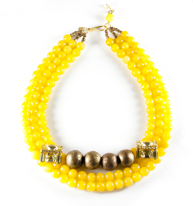 Gala 2015 - bright yellow necklace