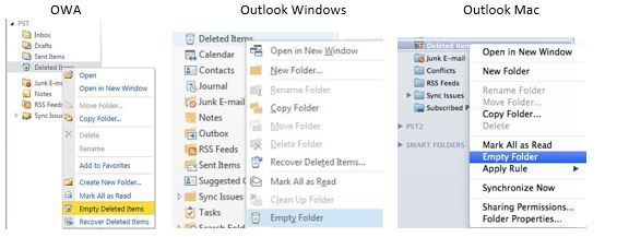 Email Management-Deleted Items