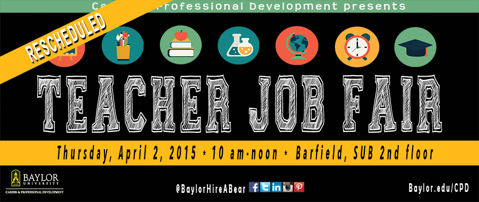 Teacher Job <br>Fair RESCHEDULED
