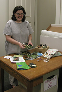 Jennifer works on a Discovery Box