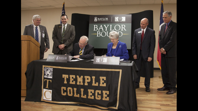 Baylor University and Temple College Announce Partnership on New 'Baylor Bound' Transfer Agreement