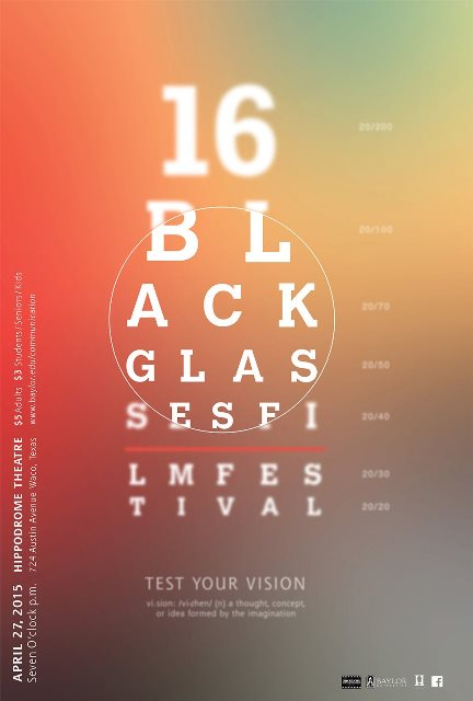 Black glasses poster 2015